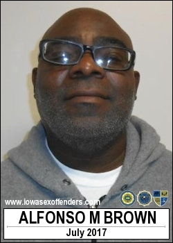 ALFONSO BROWN - Iowa Sex Offender Registry